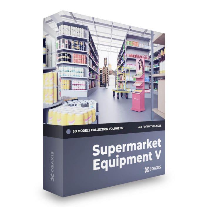 supermarket equpment 3d models