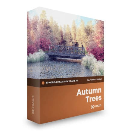 autumn trees 3d models