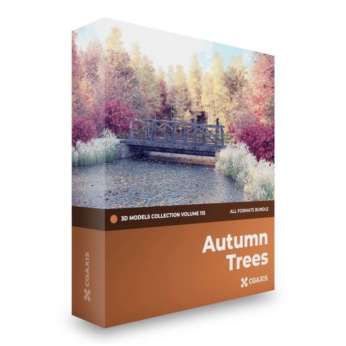 autumn trees 3d models