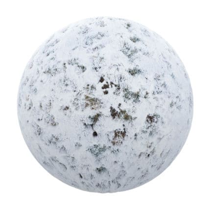 Snow Covering Grass PBR Texture
