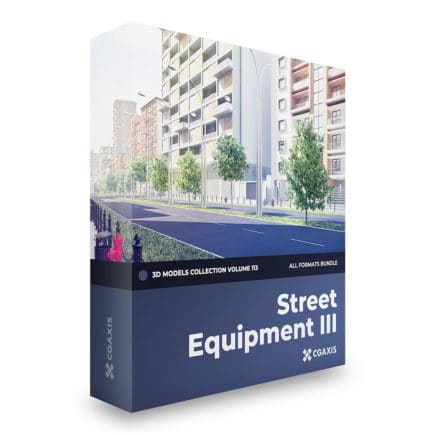 street equipment 3d models