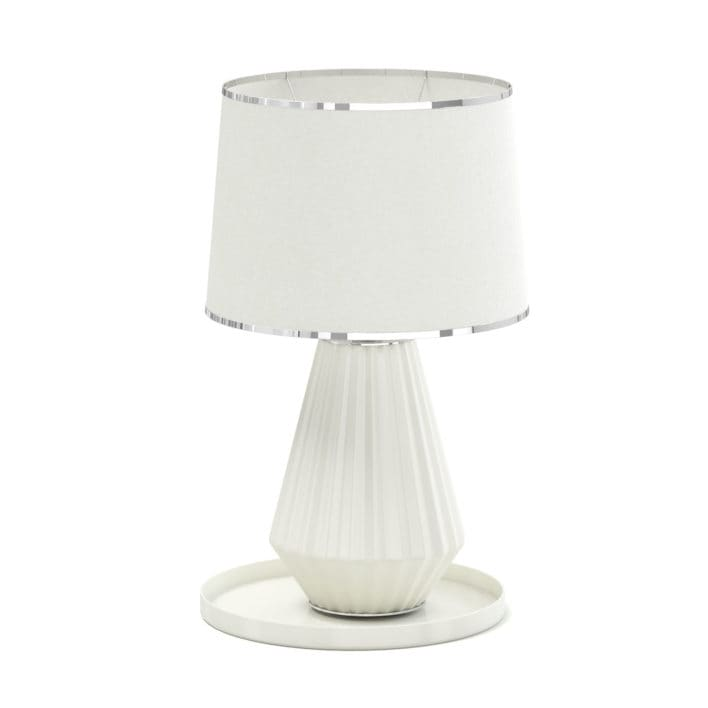 Beige Table Lamp 3D Model