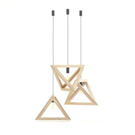Hanging Wooden Lamp 3D Model