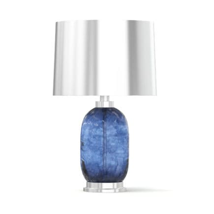 Blue and Metal Table Lamp 3D Model