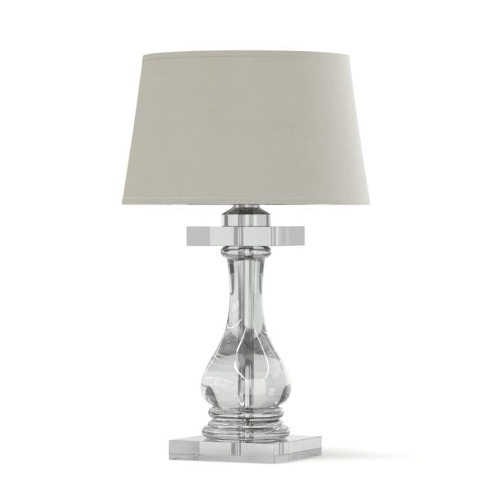 Glass Table Lamp 3D Model