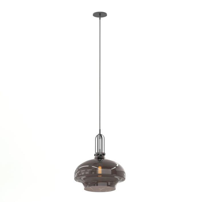 Brown Glass Hanging Lamp 3D Model
