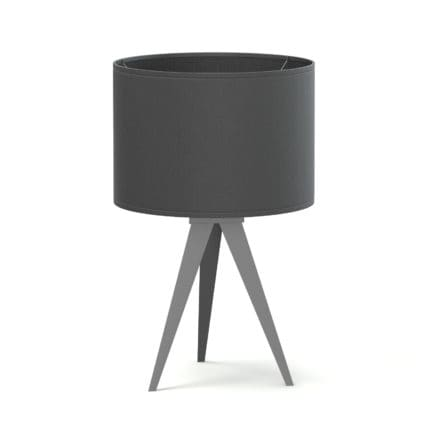 Black Table Lamp 3D Model