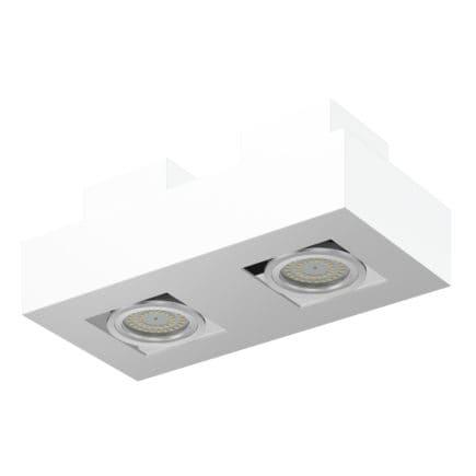 Double Rectangular Halogen Light 3D Model