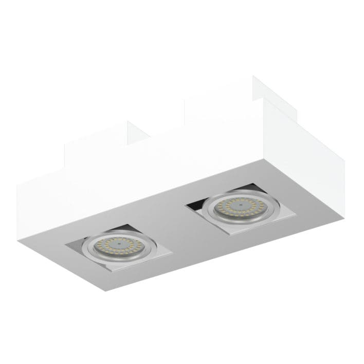 Double Rectangular Halogen Light 3D Model