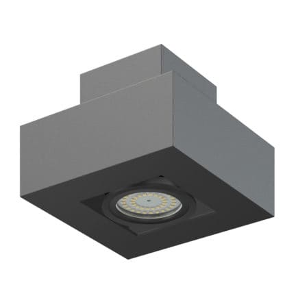 Black Rectangular Halogen Light 3D Model