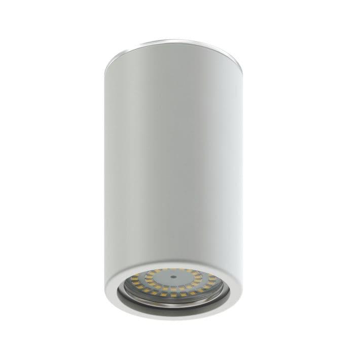 White Cylindrical Light 3D Model