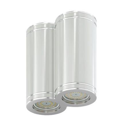 Double White Cylindrical Light 3D Model