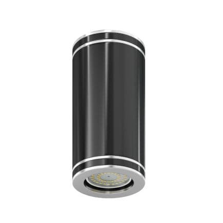 Black Cylindrical Light 3D Model