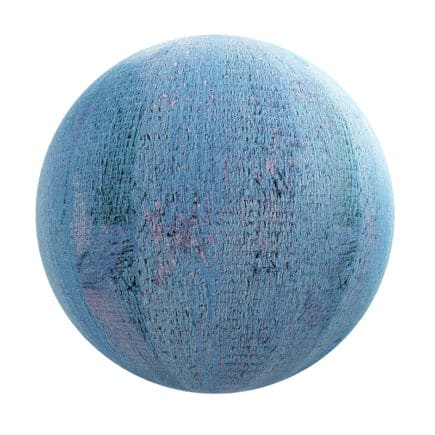 Blue Painted Wood PBR Texture