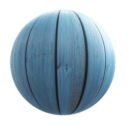 Blue Wooden Planks PBR Texture