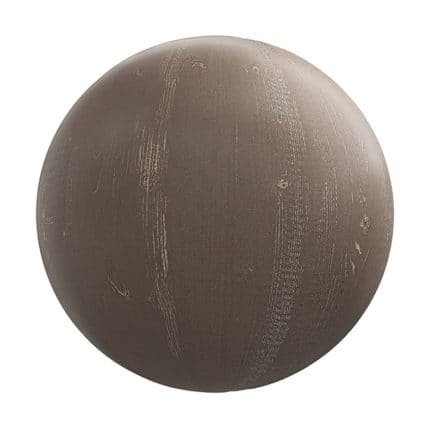Brown Painted Wood PBR Texture