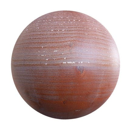 Red Painted Wood PBR Texture