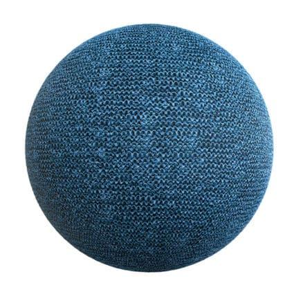 Blue Fabric PBR Texture