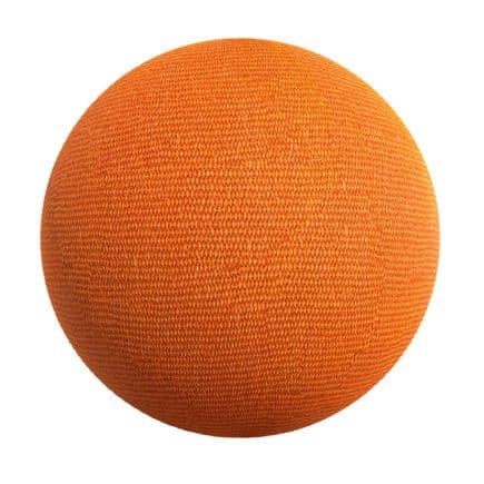 Orange Fabric PBR Texture