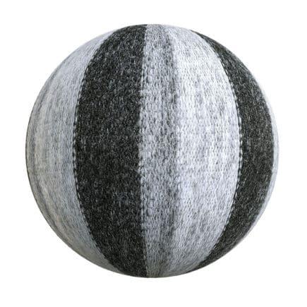 Striped Wool Fabric PBR Texture