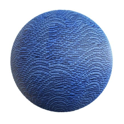 Wrinkled Blue Fabric PBR Texture