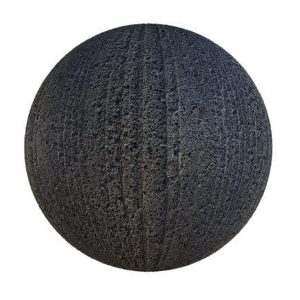 Black Asphalt with Lines PBR Texture