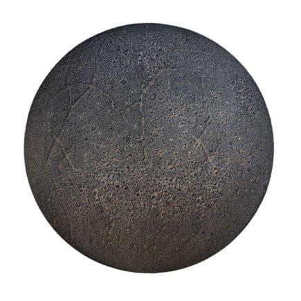 Cracked Black Asphalt PBR Texture