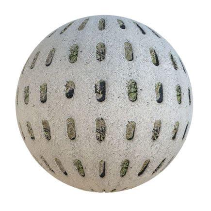Grey Concrete Grate PBR Texture