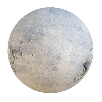 Grey Concrete with Holes PBR Texture