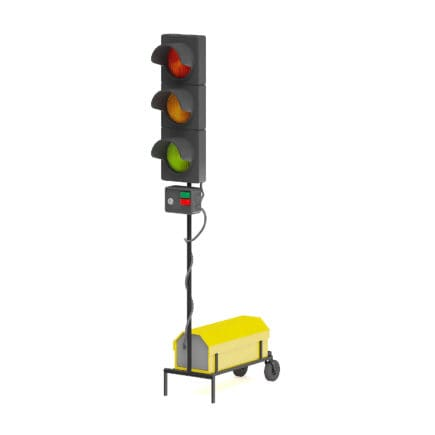 Portable Traffic Lights 3D Model