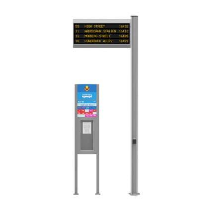 Bus Timetable 3D Model