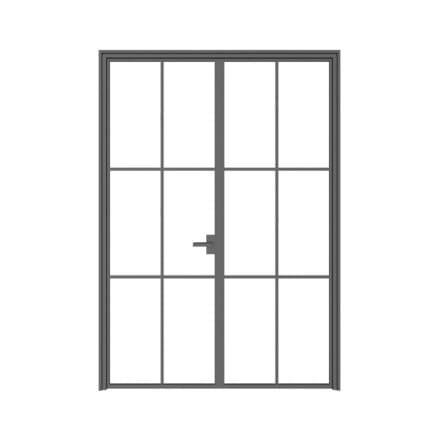 Double Glass Door 3D Model