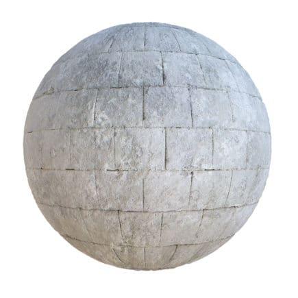 Grey Brick Wall PBR Texture