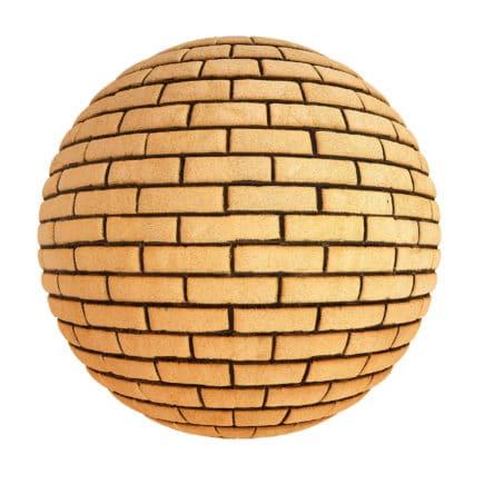 Orange Brick Wall PBR Texture