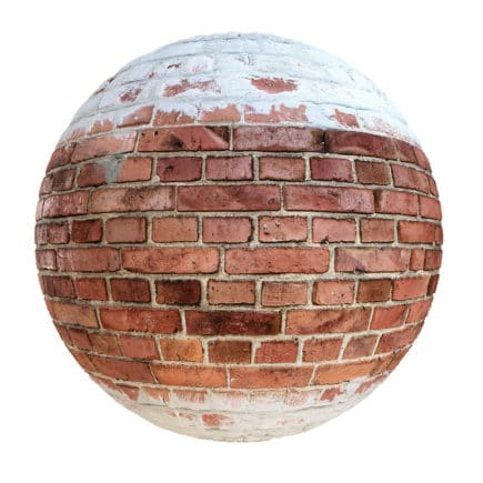 Red Brick Wall with Cement PBR Texture