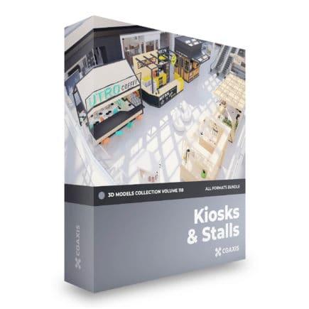 kiosks and stalls 3d models
