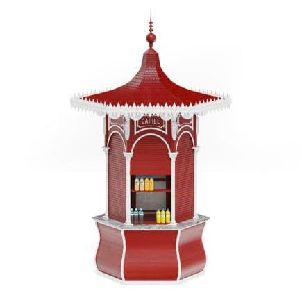 Red Kiosk 3D Model