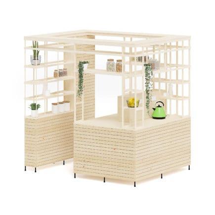 Eco Kiosk 3D Model