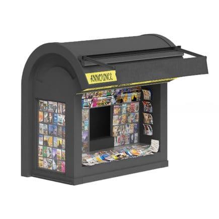 Newspaper Kiosk 3D Model