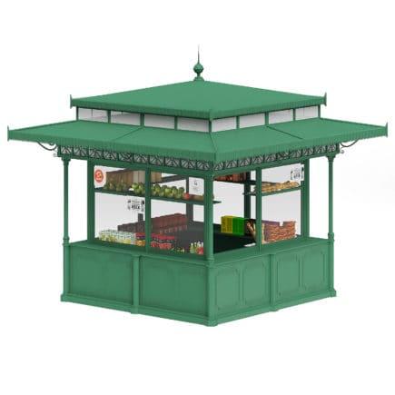 Standard Kiosk 3D Model
