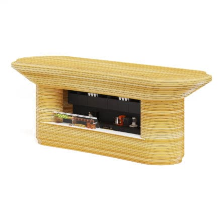 Wooden Stand 3D Model