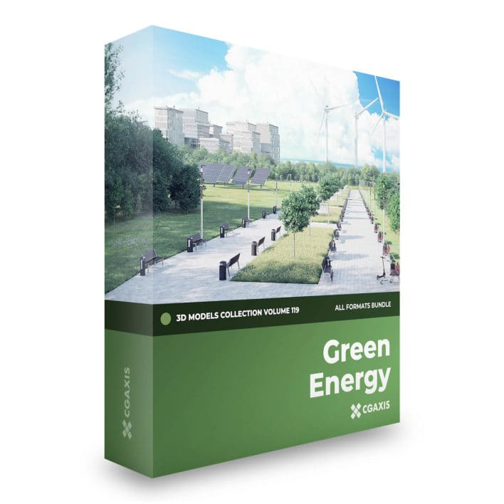 green energy 3d models