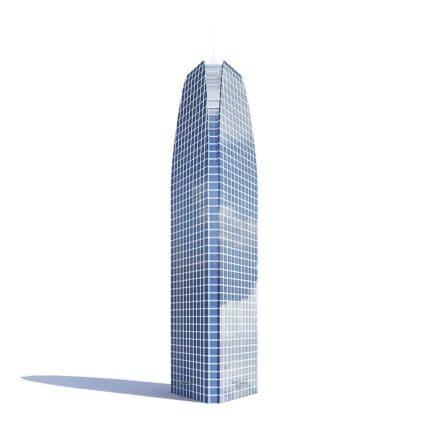 Triangle Skyscraper 3D Model