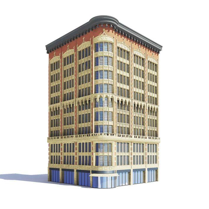Narrow Building 3D Model