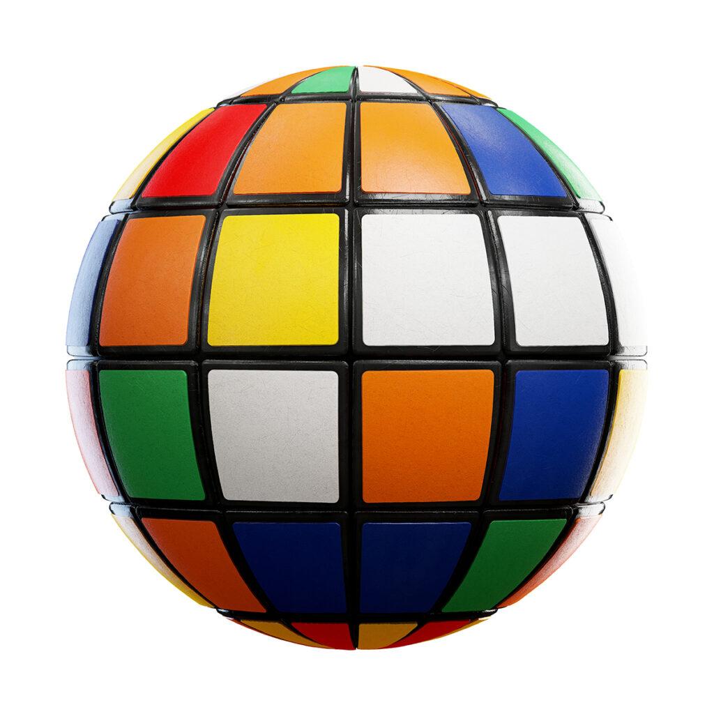rubik's cube pbr texture